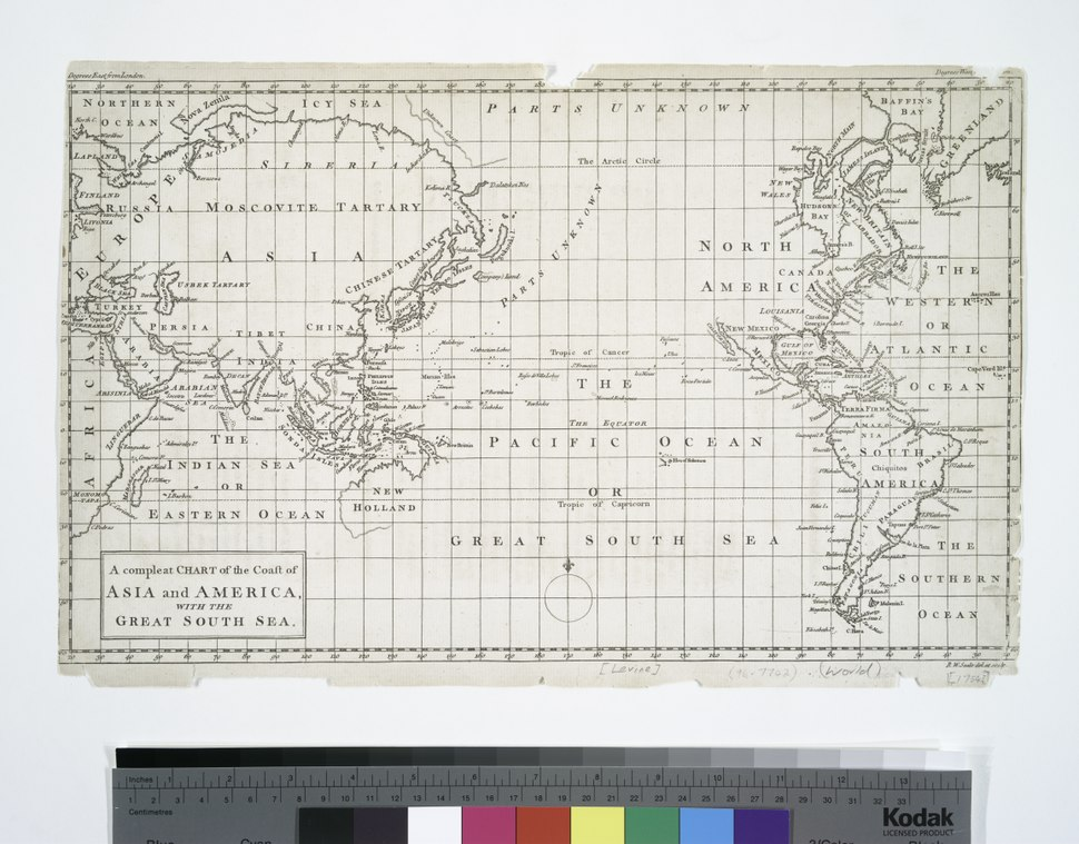 A compleat chart of the coast of Asia and America with the great South Sea - R.W. Seale del. et sculp. NYPL465242.tiff