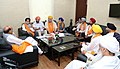 A delegation of All Parties Sikh Coordination Committee, Kashmir, meeting the Union Home Minister, Shri Rajnath Singh, in New Delhi on June 23, 2016 (1).jpg