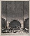 A group of Persian men are doing exercises. Engraving by Fri Wellcome V0040465.jpg