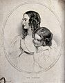 A portrait of two sisters. Engraving by C.W. Wass after Sir Wellcome V0038790.jpg