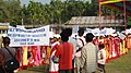 A rally was organised at Baneswar in Cooch Behar district on the occasion of Bharat Nirman Navoday Utsav, in West Bengal on December 17, 2008.jpg