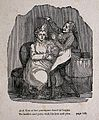 A seated woman having her hair combed by a male hair-dresser Wellcome V0019765ER.jpg
