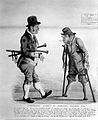 A tramp exclaiming to another tramp that his severed legs ha Wellcome L0002648.jpg