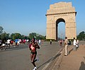 A view of the participants running at the 5th Delhi Half Marathon 2012, in New Delhi on September 30, 2012 (1).jpg