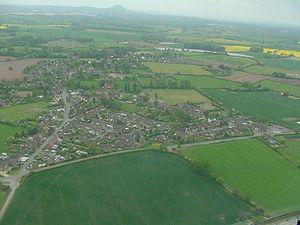 Edgmond, Shropshire - Image: Aa edgmond from heli 20070506
