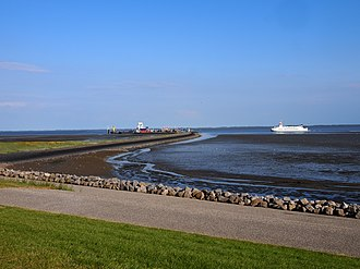 Schiermonnikoog - Image: Aankomst de Rottum op Schiermonnikoog