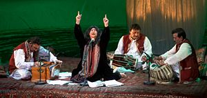 Sindhis - Abida Parveen is a Pakistani singer of Sindhi descent and one of the foremost exponents of Sufi music.