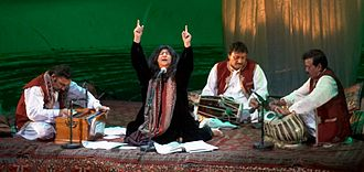 Sindhis - Abida Parveen is a Pakistani singer of Sindhi descent and an exponent of Sufi music.