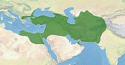 Imperium Achemenidów w największym zasięgu terytorialnym, pod rządami Dariusza I (522 pne do 486 pne). [2] [3] [4] [5]