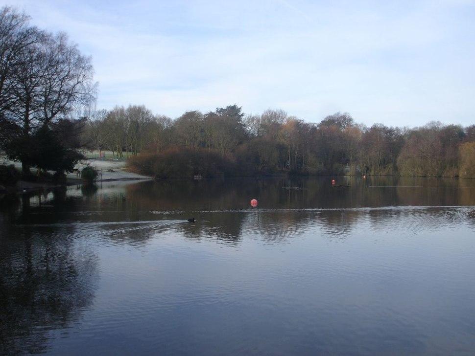 Acton Park lake, Wrexham