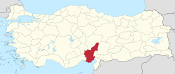 Adana in Turkey.svg