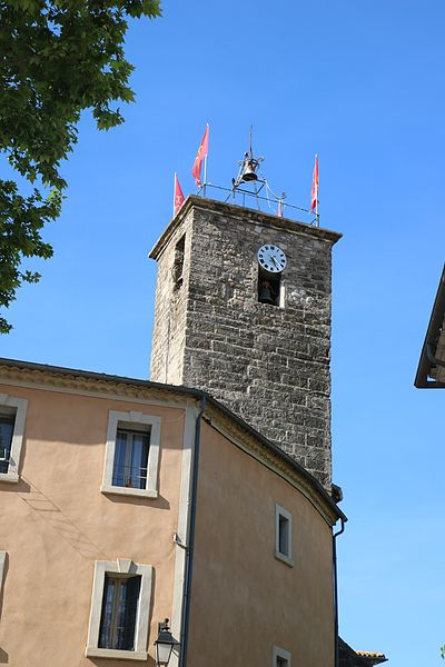 Adissan (Hérault) - clocher de l'église Saint-Adrien