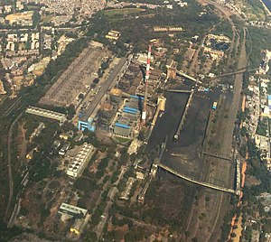Badarpur Thermal Power Station - Aerial view of Badarpur Thermal Power Station
