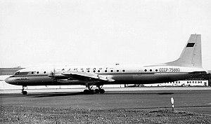 Ilyushin Il-18 - Aeroflot Il-18V at Prestwick Airport, 1960s