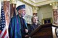 Afghan President Karzai Delivers Remarks With Secretary Clinton (4600780107).jpg