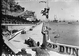 1931 Monaco Grand Prix - Soon after the start