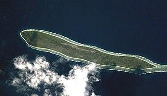 Agaléga - Satellite image of Agalega North