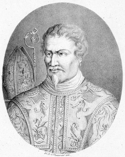 An 1816 lithography of Agostino Steffani from an unknown original. Agostino Steffani.jpg