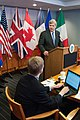 Agriculture Secretary Tom Vilsack held a press conference after giving the opening remarks at the G-8 International Conference on Open Data for Agriculture in Washington, D.C. on Monday, Apr. 29, 2013.jpg