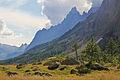 Aiguille Noire de Peuterey from Val Ferret, 2010 August.JPG