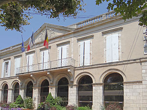 Aiguillon, Lot-et-Garonne - The town hall in Aiguillon