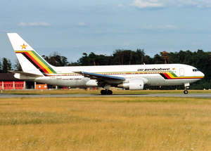 Air Zimbabwe - An Air Zimbabwe Boeing 767-200ER at Frankfurt Airport in 1992.