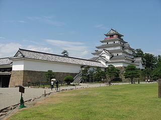 castle in Fukushima pref., Japan