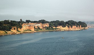 Allahabad - Allahabad Fort, built by Mughal Emperor Akbar in 1575 on the banks of the Yamuna River.