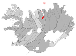 Location o the Municipality o Akureyri