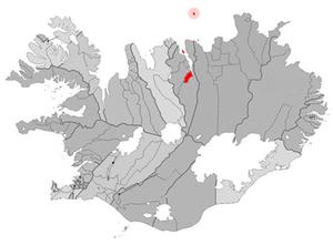 Hrísey - Image: Akureyri map