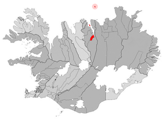 Grímsey - Image: Akureyri map