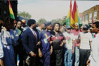Al Sharpton - Sharpton leading the first protest march over the death of Yusef Hawkins in Bensonhurst, 1989