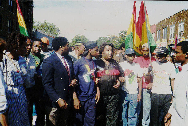 Al Sharpton, 1989 Protest March, Brooklyn NY.jpg