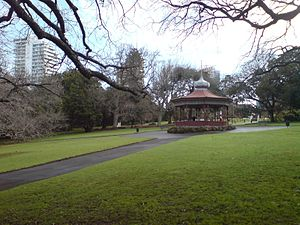 Albert Park, Auckland - The band rotunda near the south end of the park