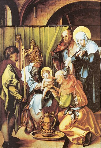 Circumcision of Jesus - The Circumcision of Christ  by Albrecht Dürer