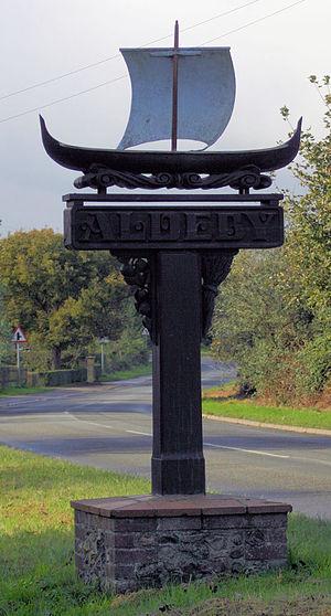 Aldeby - Image: Aldeby Sign