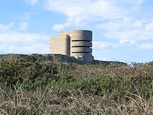 German WW2 bunker 'The Odeon' in Alderney. Thi...