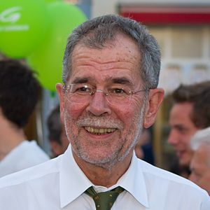 The Greens – The Green Alternative - Alexander Van der Bellen, chairman of the green party between 1997 and 2008. He was elected the 12th Federal President of Austria in 2016.