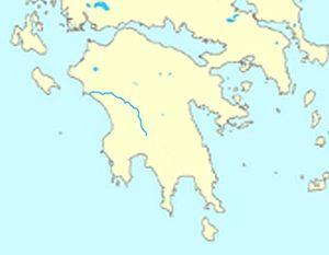 Alfeios - Image: Alfeios map