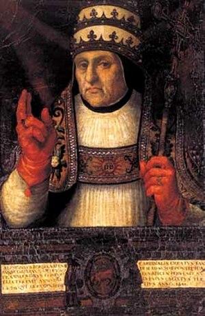 Pope Callixtus III - Image: Alfonso de Borja, obispo de Valencia y papa Calixto III