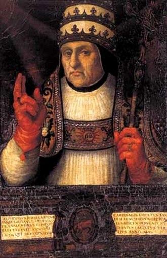 House of Borgia - Image: Alfonso de Borja, obispo de Valencia y papa Calixto III