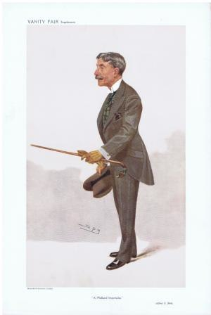 "Sir Alfred Bird, 1st Baronet - Caricature of Alfred Bird by ""Spy"" in Vanity Fair, 1908"