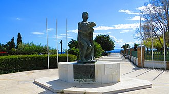 Alimos - Monument on the coast of the city.
