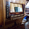 All Saints Church Farley, Wiltshire, England - organ console.jpg
