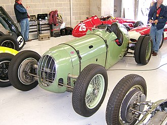 Alta Car and Engineering Company - A pre-WWII (c. 1938) Alta competition model fitted with twin rear wheels for added traction in hillclimb events.