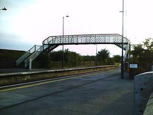 Althorpe railway station - Footbridge