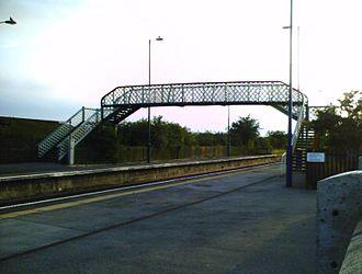 Althorpe railway station - Footbridge