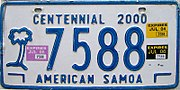 American Samoa license plate 2006
