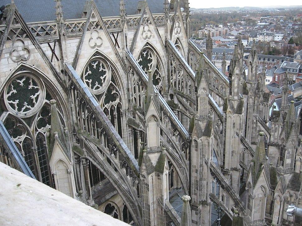 Amiens Cathédrale Notre-dame arc-boutant sud-est 4
