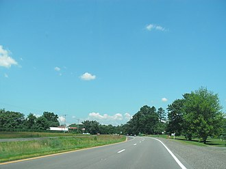 Amissville, Virginia - View of Amissville, along Route 211 (facing west)